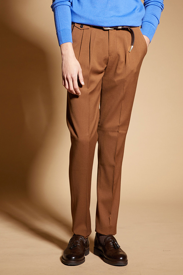 Two Pleats Out Pocket Pants_BR