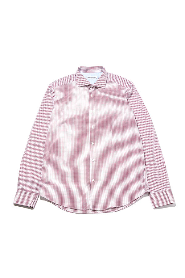 Square Pattern Slim-fit Shirts_RE